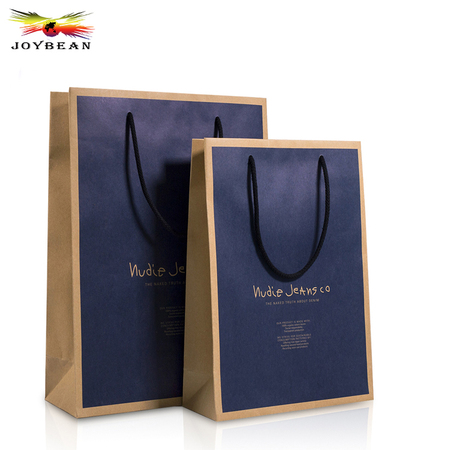 Kraft paper bag with cotton handle