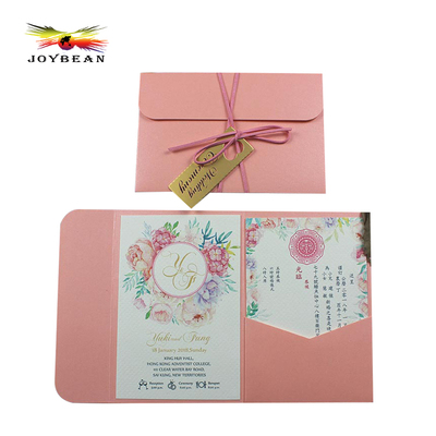 Wedding pocket paper invitation cards