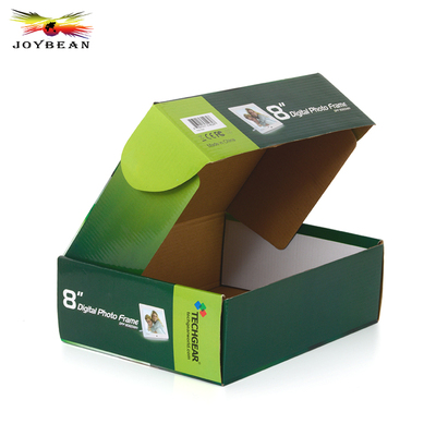 Corrugated foldable paper box